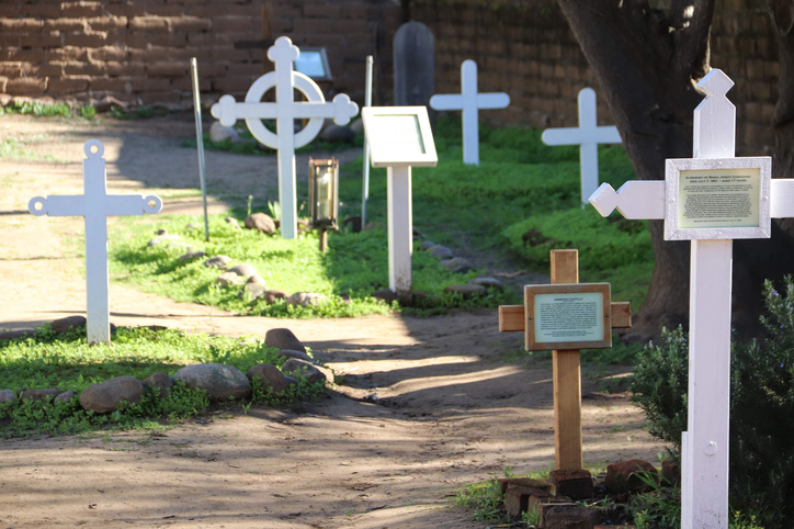 The El Campo Santo Cemetery in Old Town San Diego founded in 1849