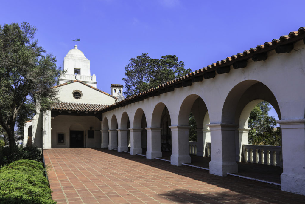 The old Presidio building at Old Town San Diego State Historic Park, California